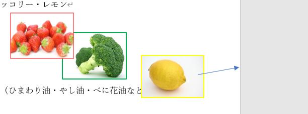 果物と野菜の画像