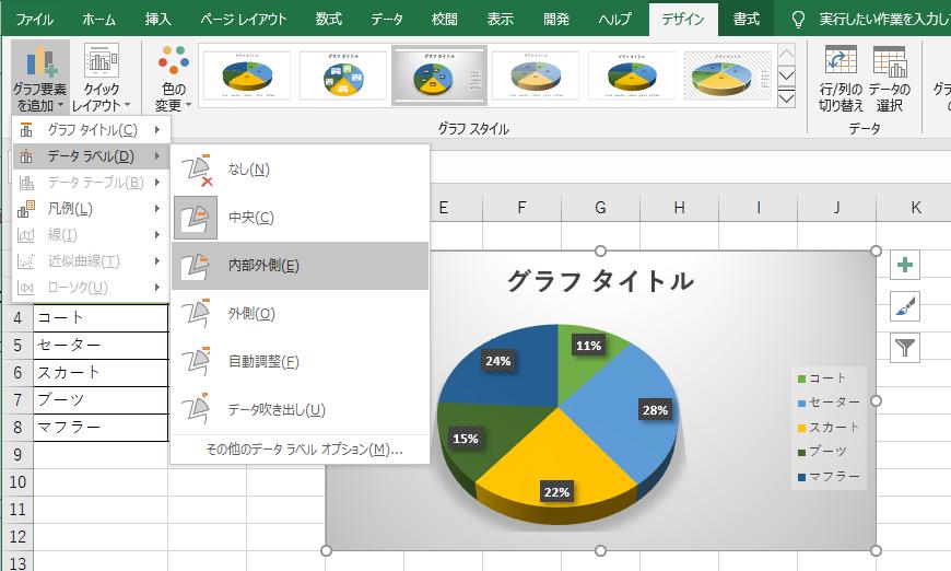 エクセル円グラフ