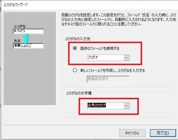 Accessフィールドプロパティ